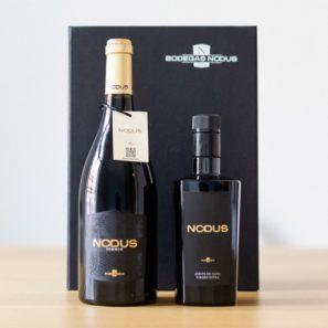 Estuche vino y aceite Nodus